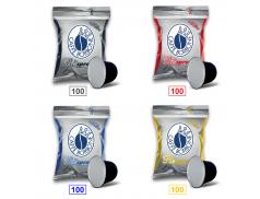 MIX 400 CAPSULE CAFFÈ BORBONE RESPRESSO - 100 MISCELA NERA - 100 MISCELA ROSSA - 100 MISCELA BLU - 100 MISCELA ORO - COMPATIBILI NESPRESSO