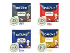 MIX 600 CIALDE CAFFÈ BORBONE - 150 MISCELA NERA - 150 MISCELA ROSSA - 150 MISCELA BLU - 150 MISCELA ORO