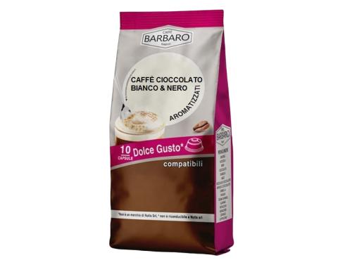 CAFFÈ CIOCCOLATO BIANCO & NERO BARBARO - 10 CAPSULE COMPATIBILI DOLCE GUSTO da 7g