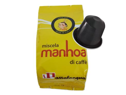 CAFFÈ PASSALACQUA MANHOA - GUSTO VELLUTATO - Box 100 CAPSULE COMPATIBILI NESPRESSO da 5g