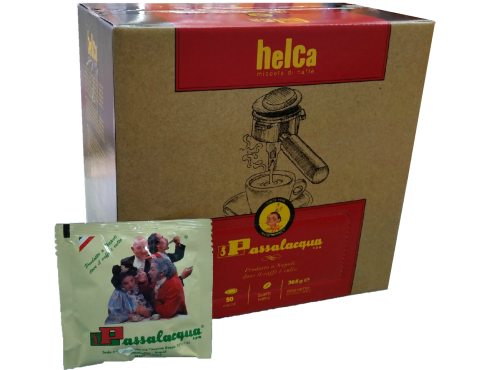 CAFFÈ PASSALACQUA HELCA - GUSTO FORTE - Box 50 CIALDE ESE44 da 7.3g