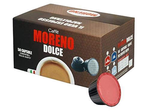 CAFFÈ MORENO DOLCE - ESPRESSO BAR - Box 50 CAPSULE COMPATIBILI DOLCE GUSTO da 7g