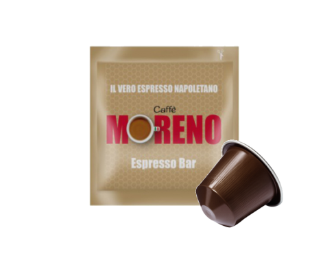 CAFFÈ MORENO NEX - ESPRESSO BAR - Box 100 CAPSULE COMPATIBILI NESPRESSO da 7g