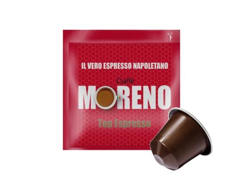 CAFFÈ MORENO NEX - TOP ESPRESSO - Box 100 CAPSULE COMPATIBILI NESPRESSO da 7g