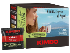 COFFEE KIMBO NAPOLI - Box 100 PODS ESE44 7g