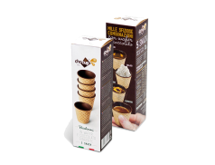 FOODRINKS CHOCUP MINI 30ml - 5 SNACK CUPS IN WAFER AND DARK CHOCOLATE 31g
