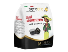 COFFEE GINSENG NEROORO - 16 DOLCE GUSTO COMPATIBLE CAPSULES