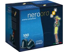 COFFEE NEROORO - MISCELA ORO - Box 100 NESPRESSO COMPATIBLE CAPSULES 5g