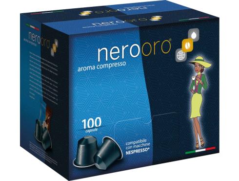 CAFÉ NEROORO - MISCELA ORO - Box 100 CÁPSULAS COMPATIBLES NESPRESSO 5g